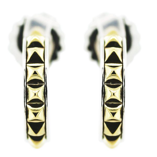 Lagos Caviar Two Tone Spike Earrings