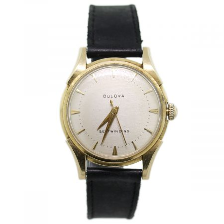 14k Yellow Gold Vintage Bulova Self Winding Watch