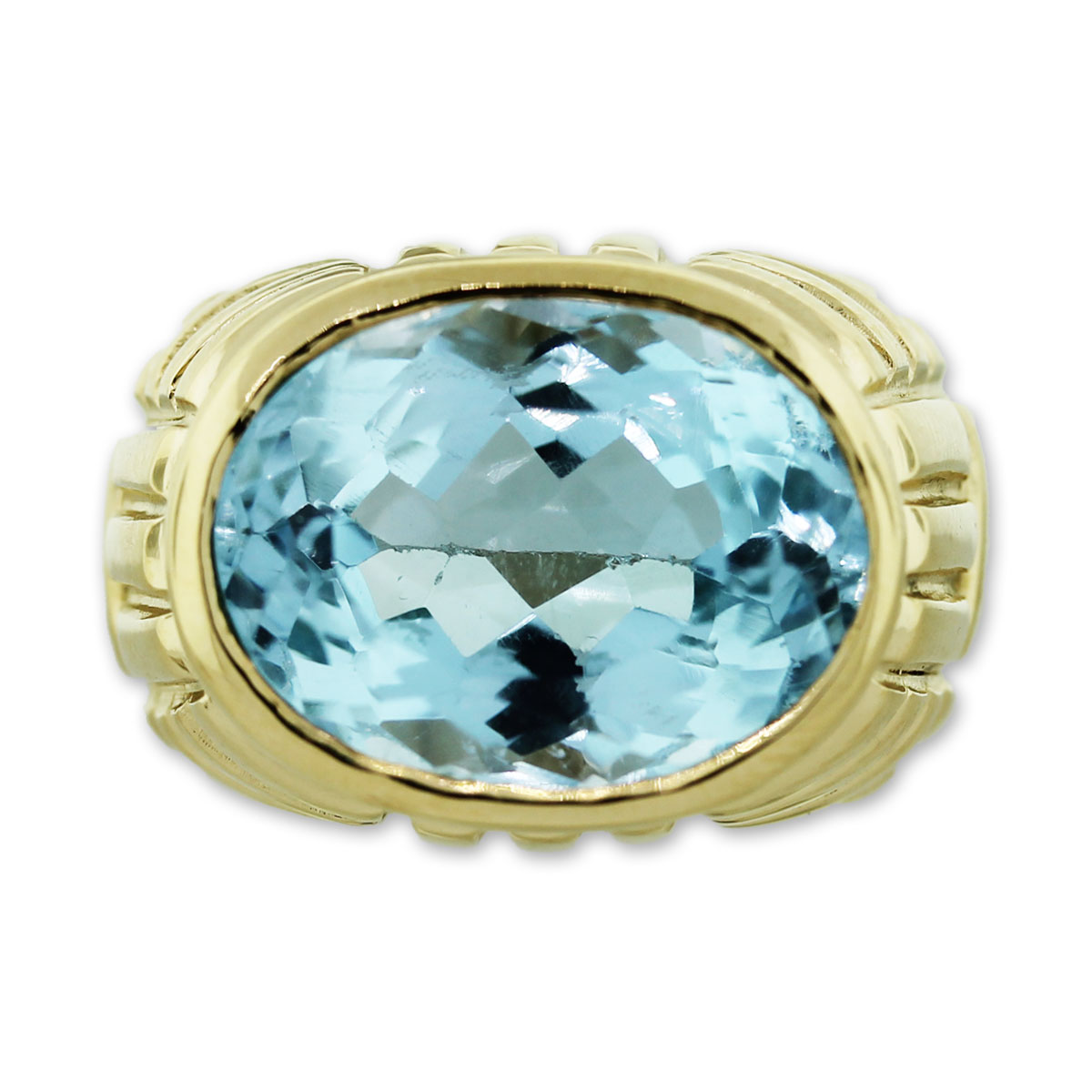 American Blue Topaz Ring