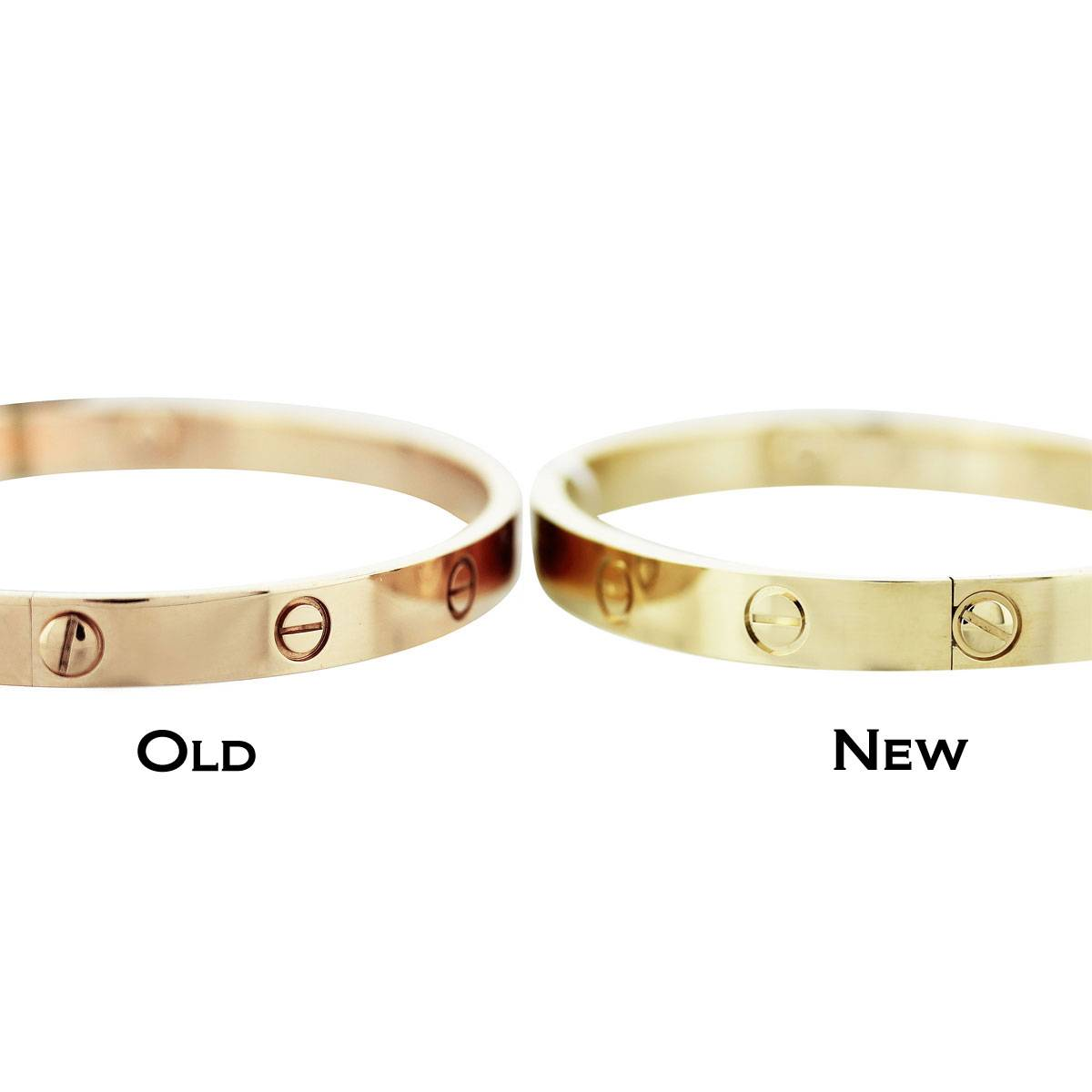 The Difference Between New Model Cartier Love Bangle & Old