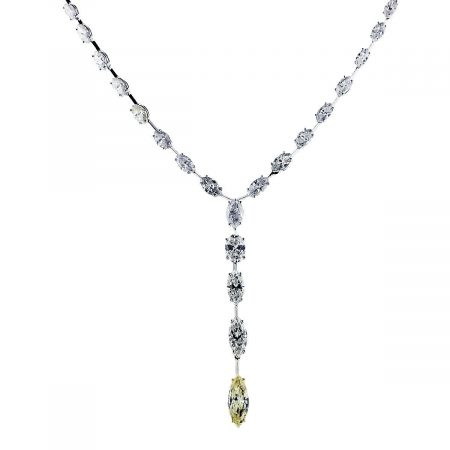 marquise diamond drop necklace 1