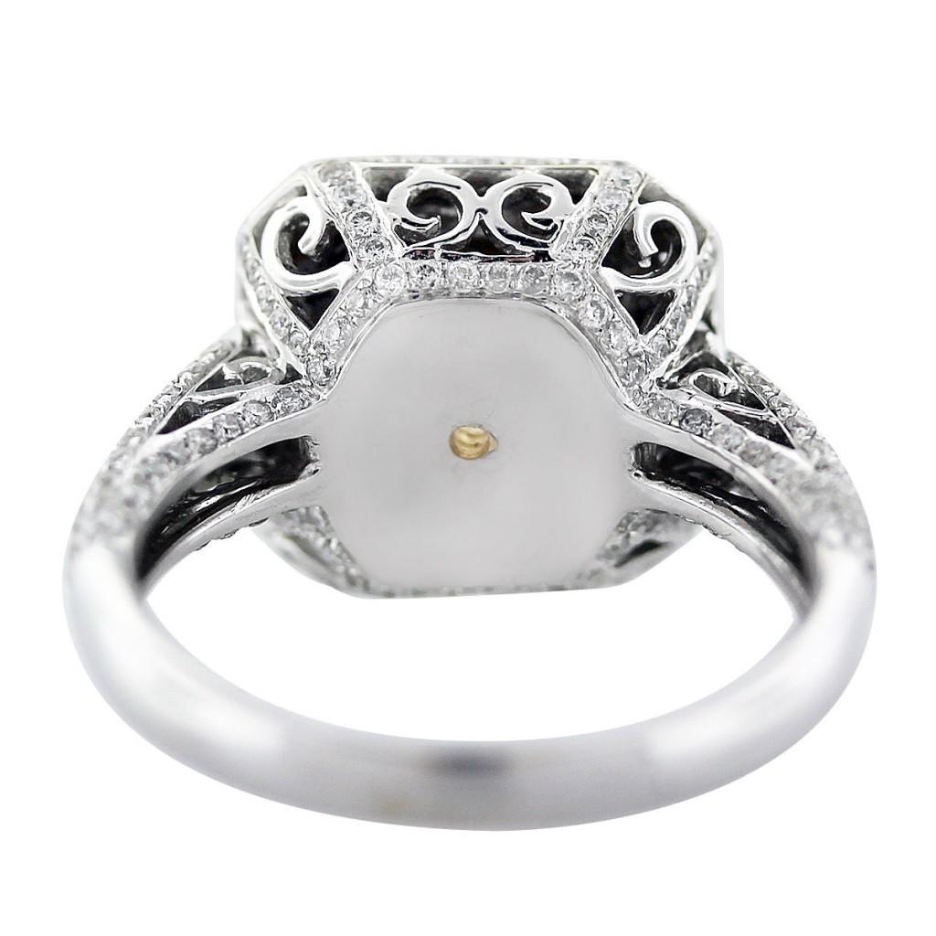 fancy yellow cushion cut diamond engagement ring in 18k. Black Bedroom Furniture Sets. Home Design Ideas