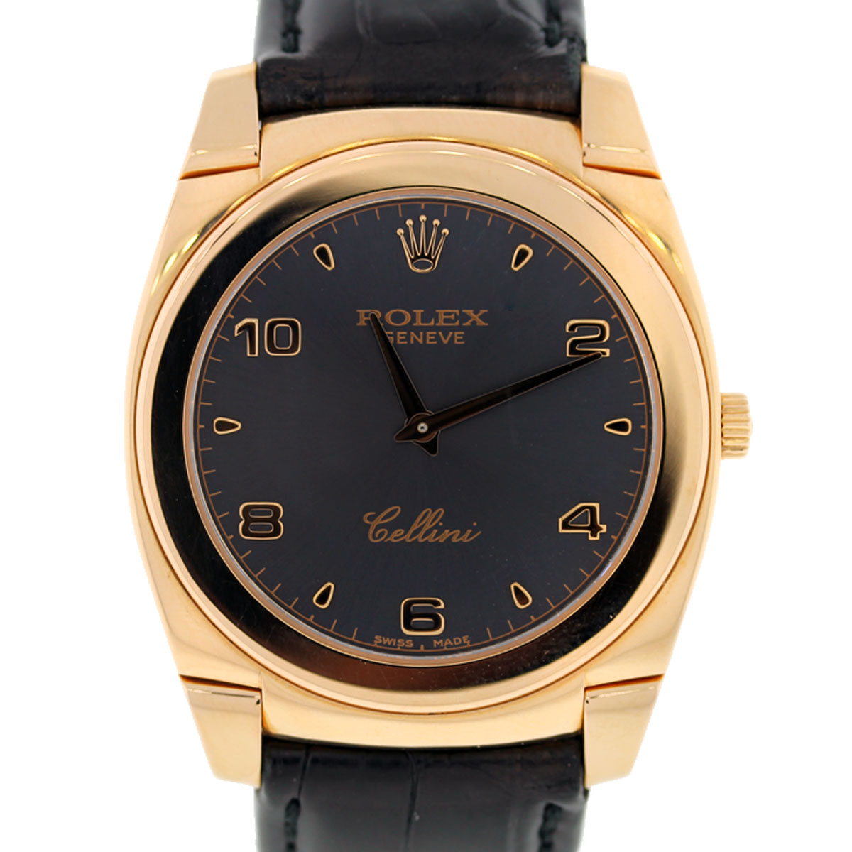 Rolex cellini 18k rose gold 5330 mens wristwatch boca raton for Rolex cellini