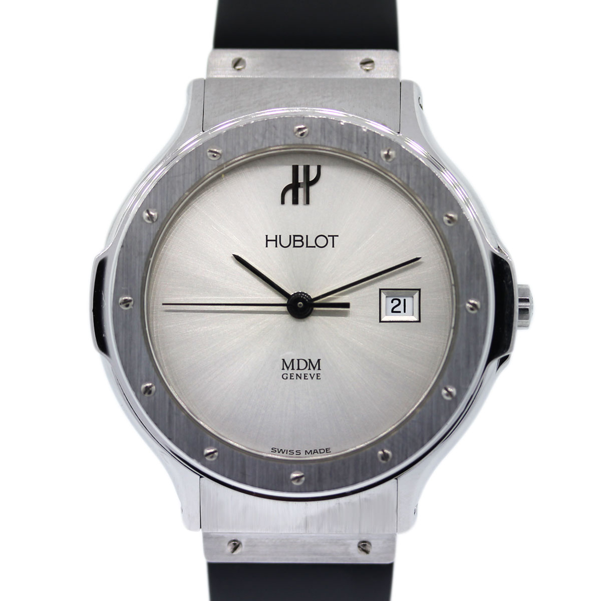 Pre Owned Hublot MDM Silver Dial Ladies Watch