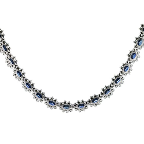 Used Sapphire and Diamond Necklaces