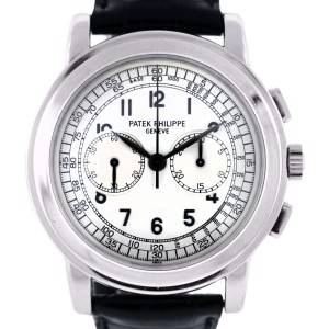 pre owned white gold Patek Philippe Chronograph