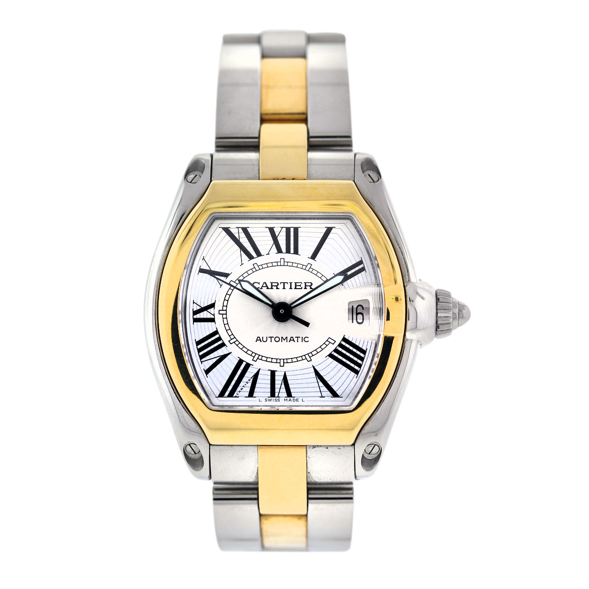 cartier roadster steel and 18k yellow gold mens boca