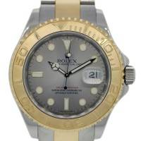 Rolex Yachtmaster 16623 Two Tone Silver Dial Mens Watch
