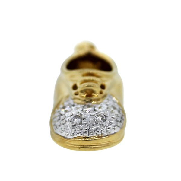 Two Tone Gold Baby Shoe Charm