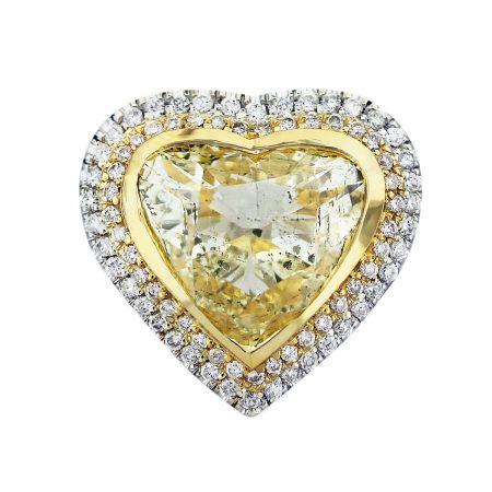 yellow diamond heart shape ring