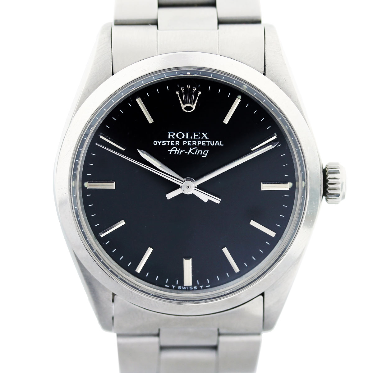 Rolex Air King 5500 Black Dial Automatic Mens Watch