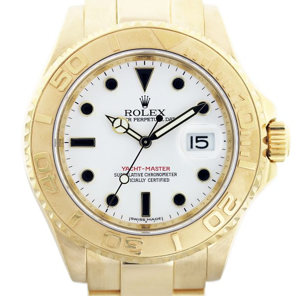 18k yellow gold yachtmaster