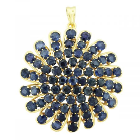 sapphire cluster pin
