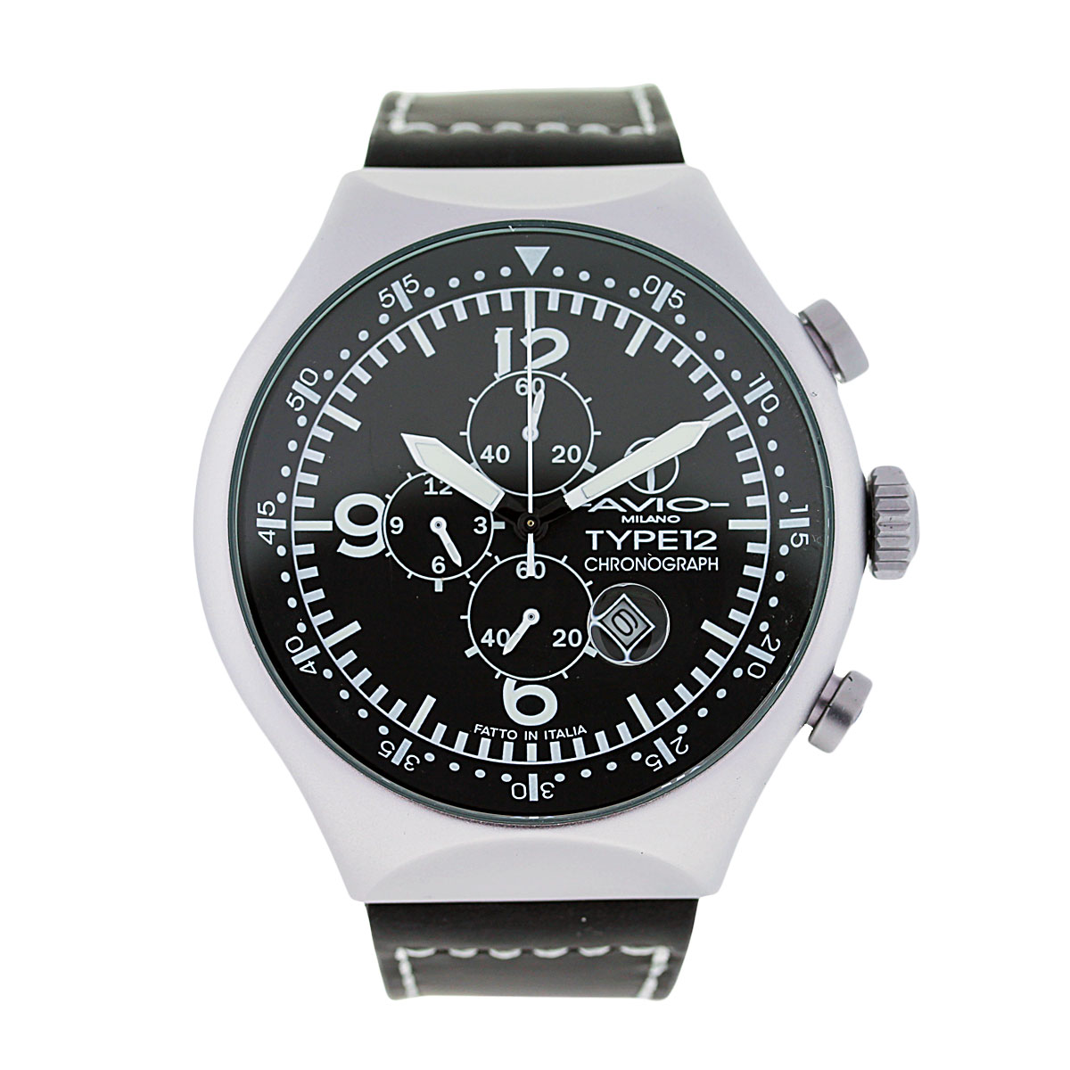 montres de luxe milano avio type 12 chronograph mens watch boca raton. Black Bedroom Furniture Sets. Home Design Ideas