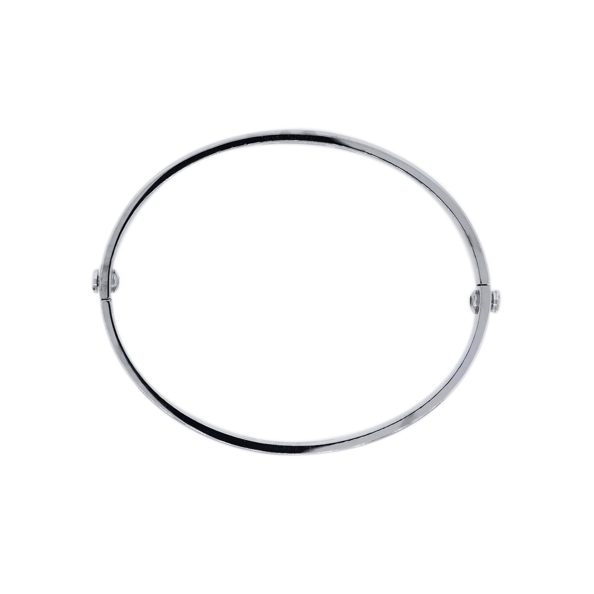 White Gold Bangle Bracelet By Cartier