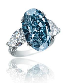 Chopard Blue diamond ring