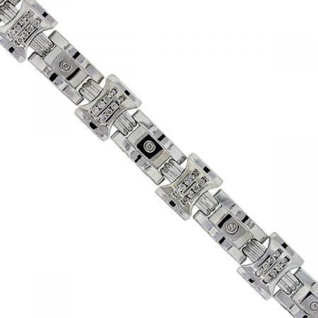 Diamond Mens Bracelet