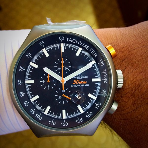 Avio Milano Deluxe 50 mm Round Face Chronograph Watch
