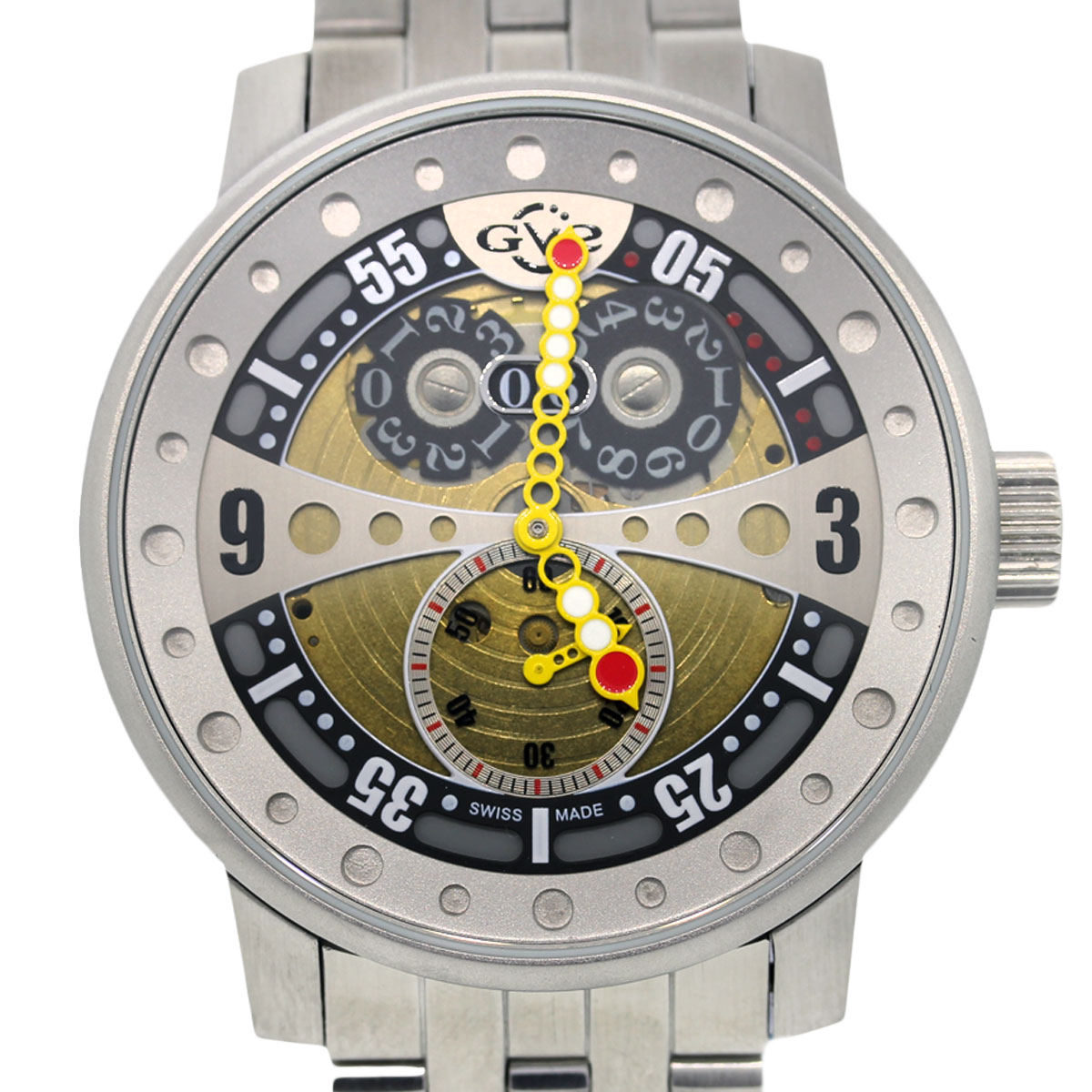 Gv2 by gevril men 39 s 4040b stainless steel watch boca raton for Gevril watches