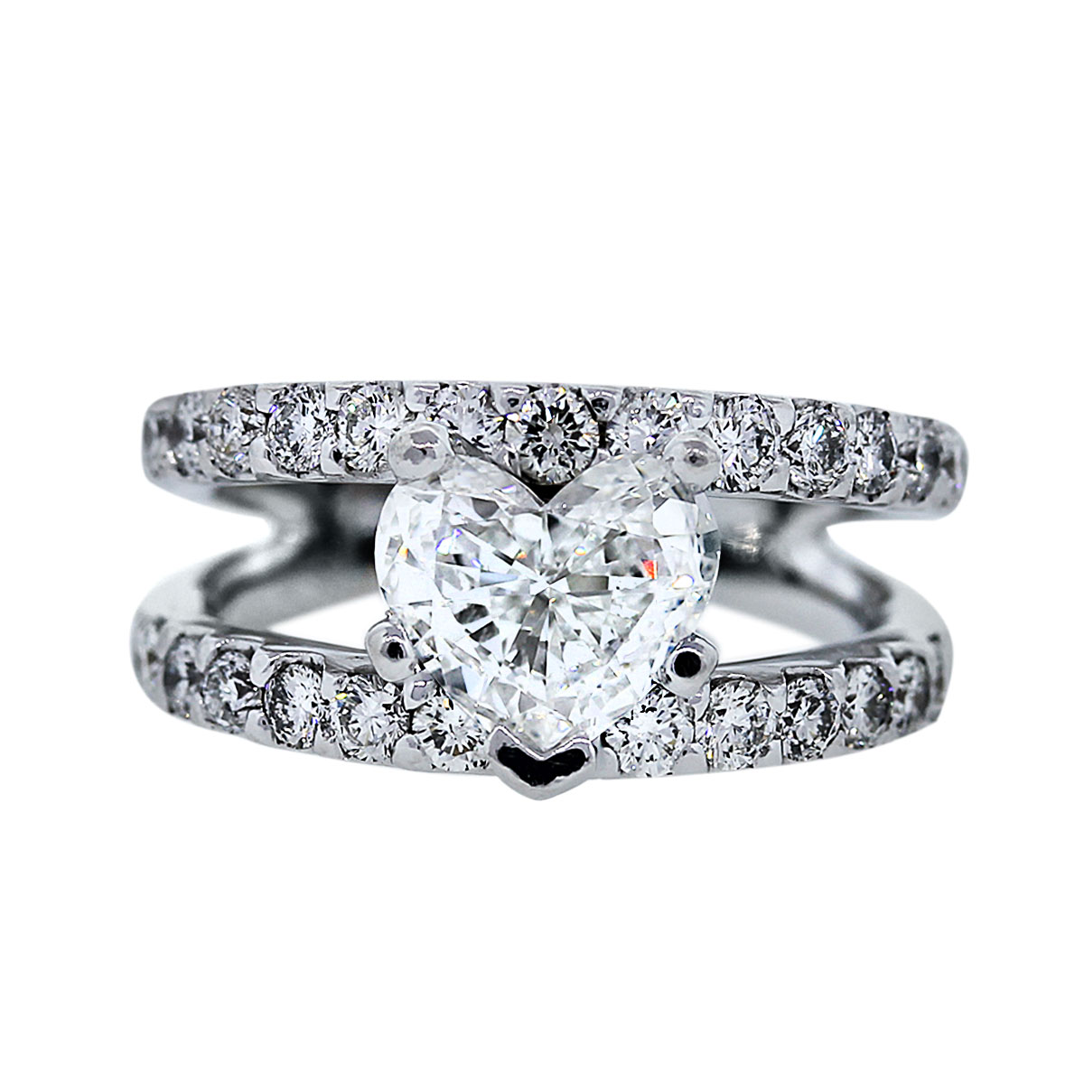 Estate Heart Shaped Diamond Engagement Ring