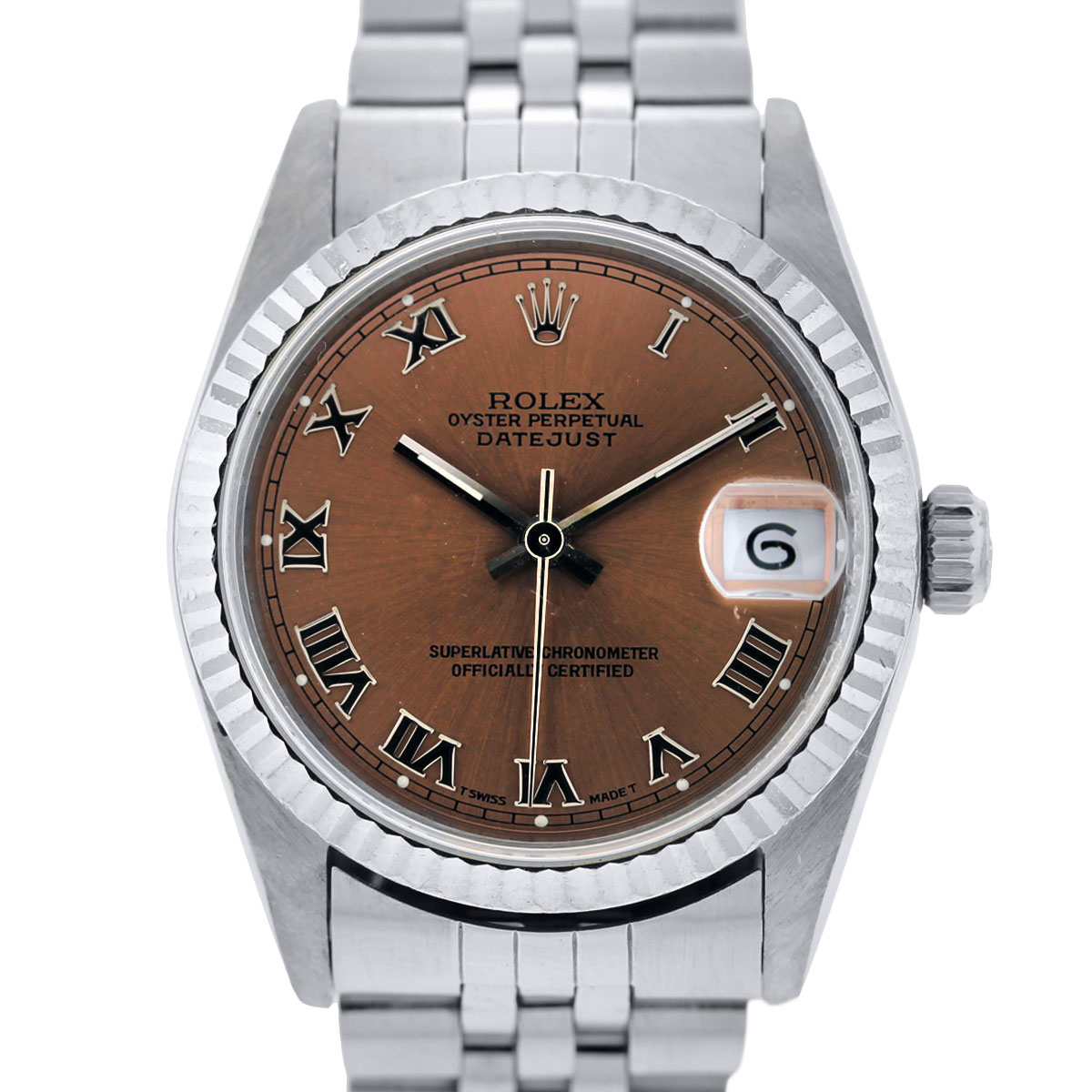 Rolex 68274 Midsize Pink Dial Watch