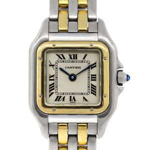 Cartier Panthere Two Tone Two Row Bracelet Ladies Watch