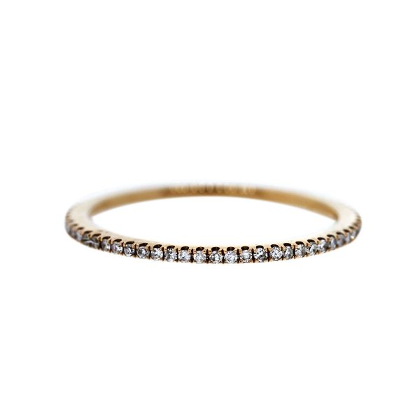 Estate 18k Rose Gold Diamond Bnad Ring