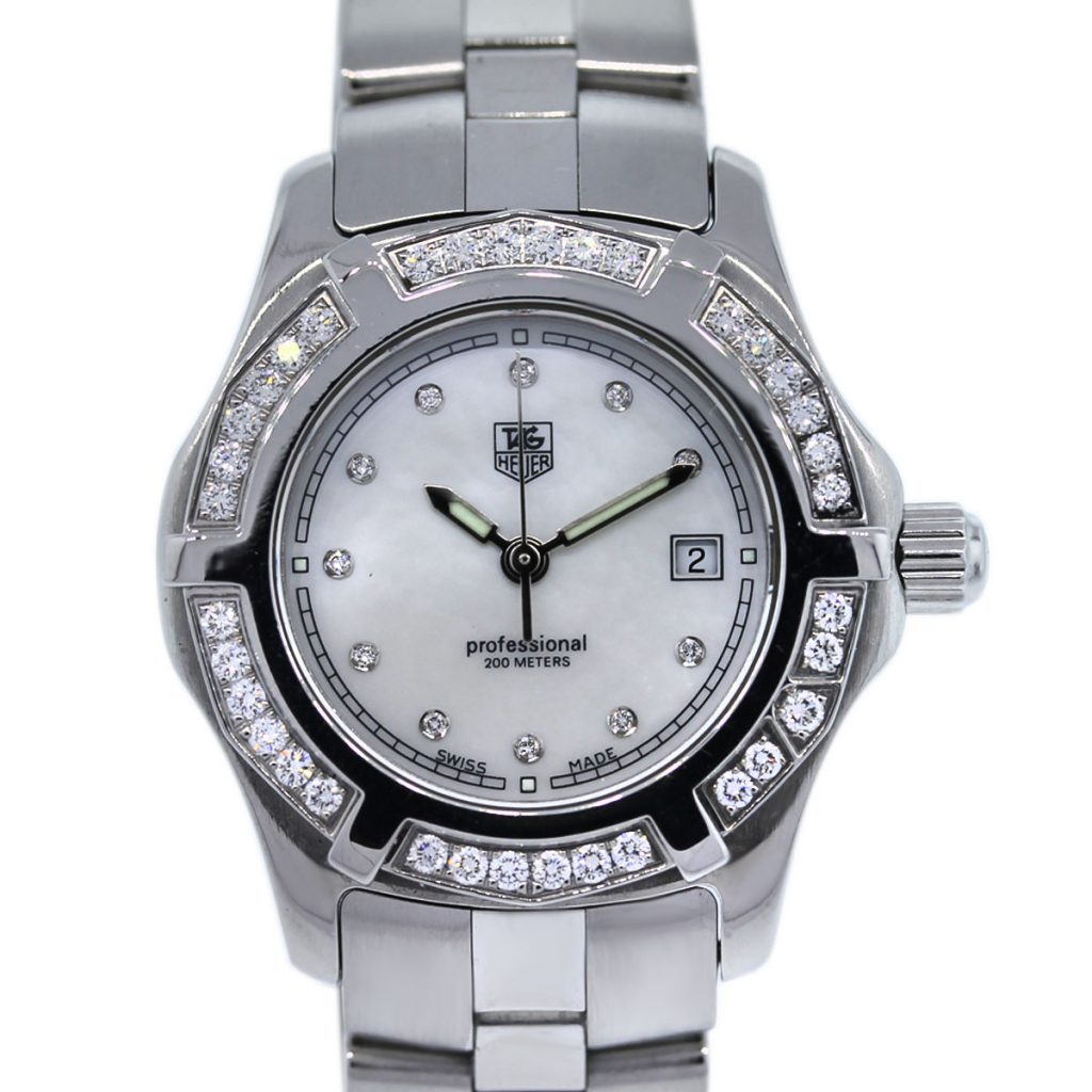 tag heuer professional wn131j 0 diamond and mop dial watch boca raton. Black Bedroom Furniture Sets. Home Design Ideas