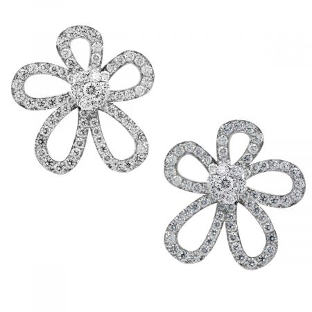 Van Cleef & Arpels Diamond Flower Earrrings
