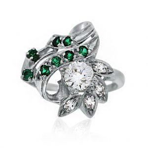 Diamonds and emerald Ring