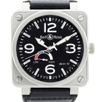 Bell and Ross Aviation Reserve De Marche Black Dial Mens Watch