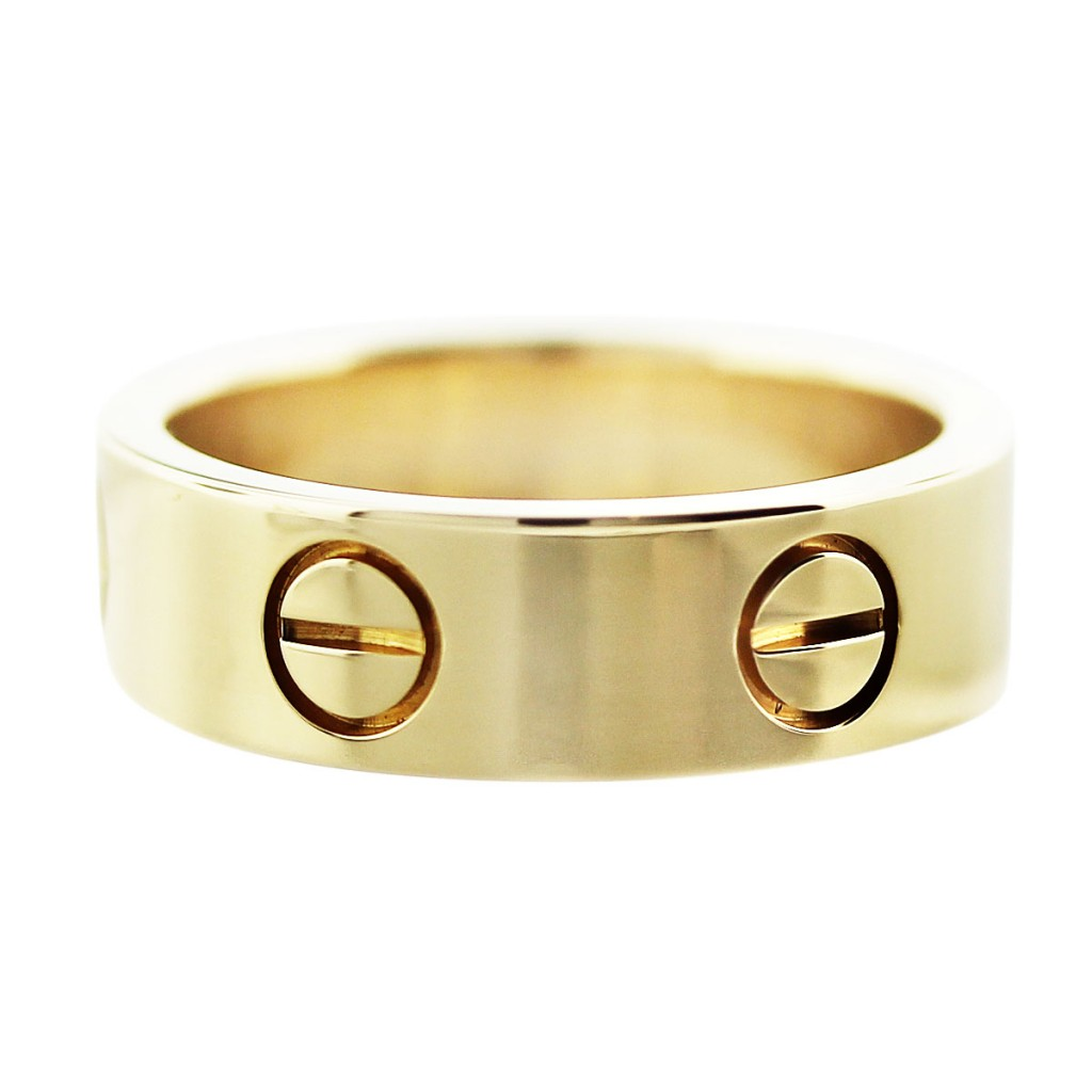 Cartier 18k Yellow Gold LOVE Wedding Band Size 50