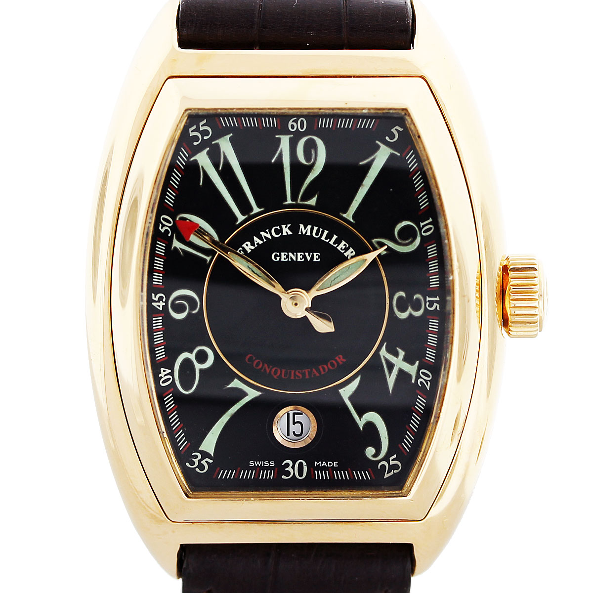 Franck muller conquistador 8001 18k rose gold mens watch for Franck muller watches