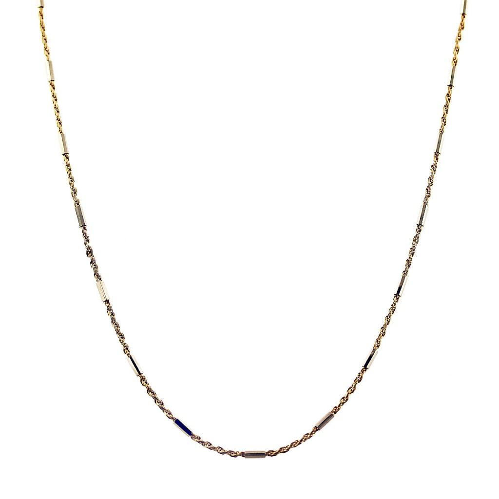 18k yellow gold rope chain necklace
