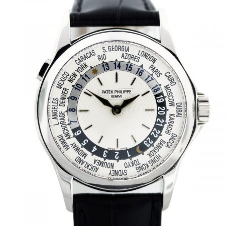 Patek Philippe World Time 5110G 18K White Gold Mens Watch