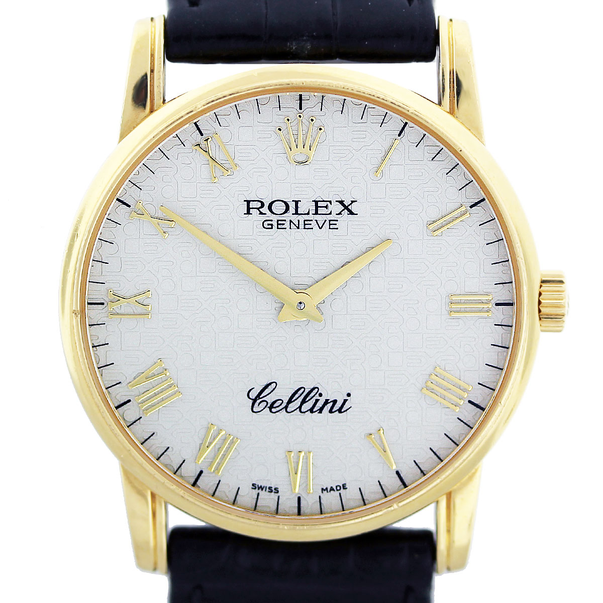 Rolex cellini 5116 18k yellow gold jubilee dial watch for Rolex cellini