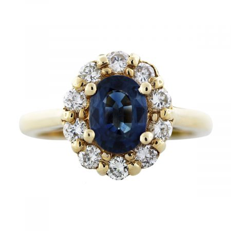 gold sapphire cocktail ring