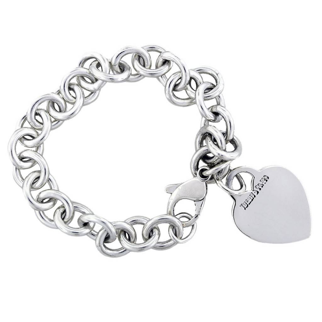 Metal Charm Bracelets: Tiffany & Co. Sterling Silver Heart Charm Bracelet