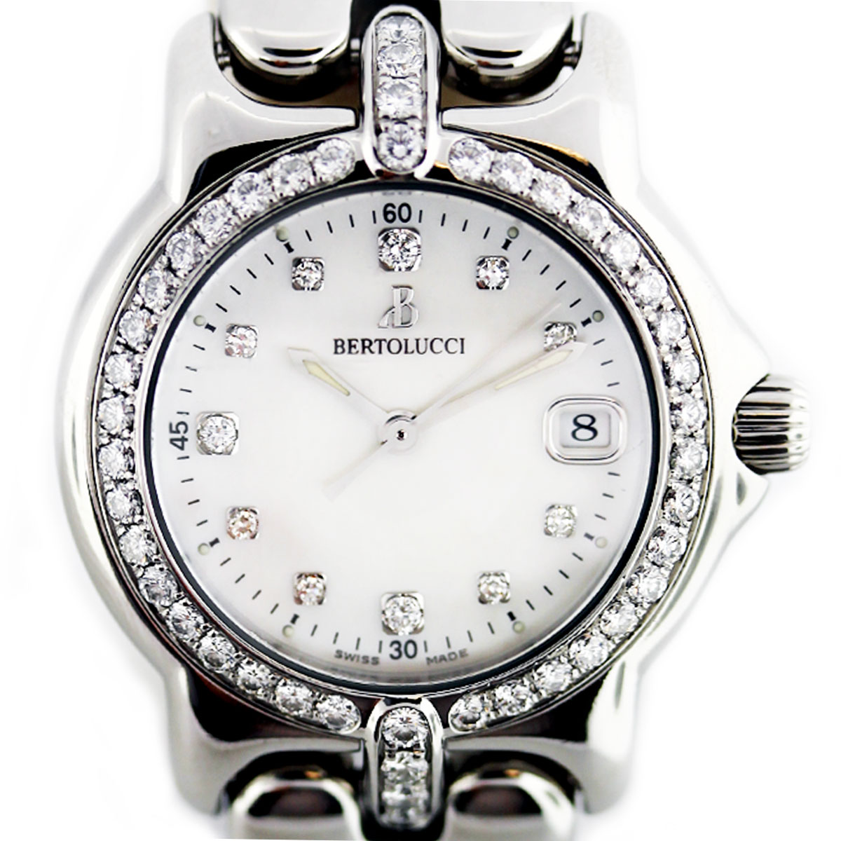 Bertolucci Vir Diamond/MOP Dial Diamond Bezel 095 Ladies Watch