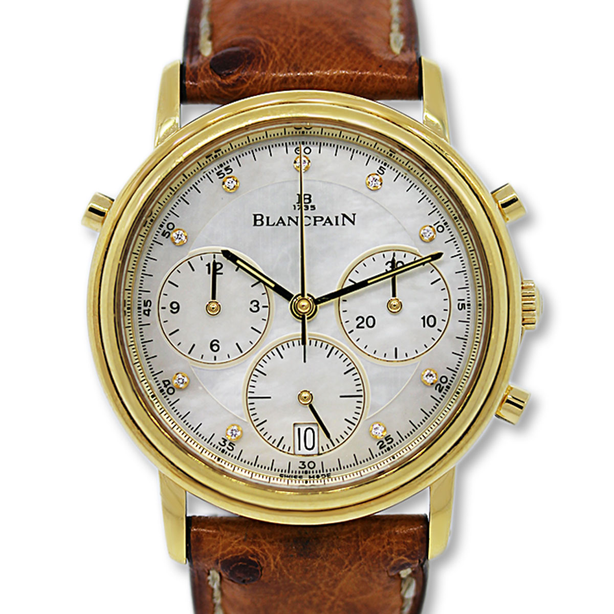 BlancPain Split Second Chronograph Mens Watch