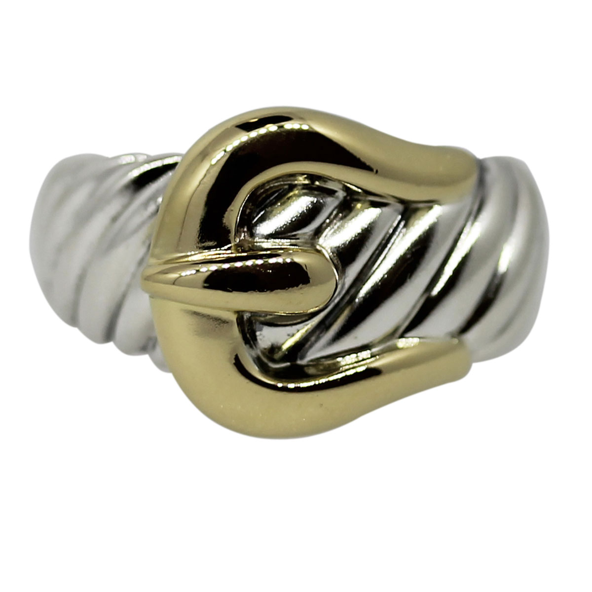 Two Tone Buckle Ring Boca Raton
