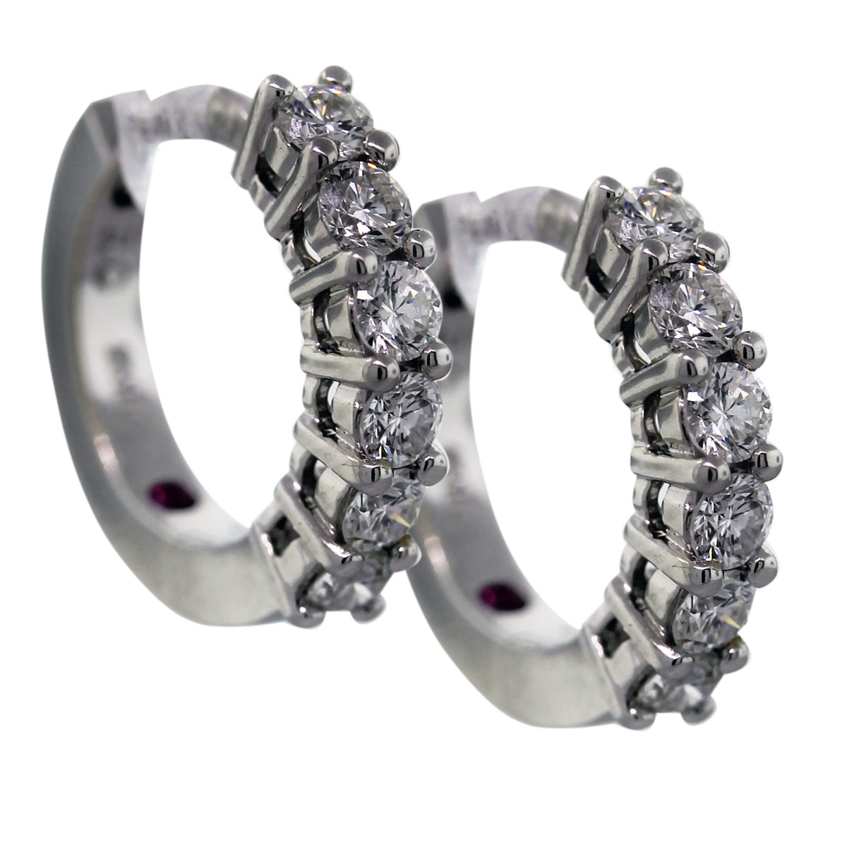 Roberto Coin 18k White Gold .70ctw Diamond Huggie Earrings
