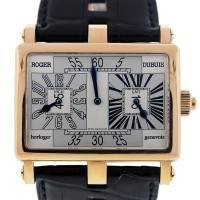 Roger Dubuis 18k Rose Gold Square Dual Time Power Reserve Watch