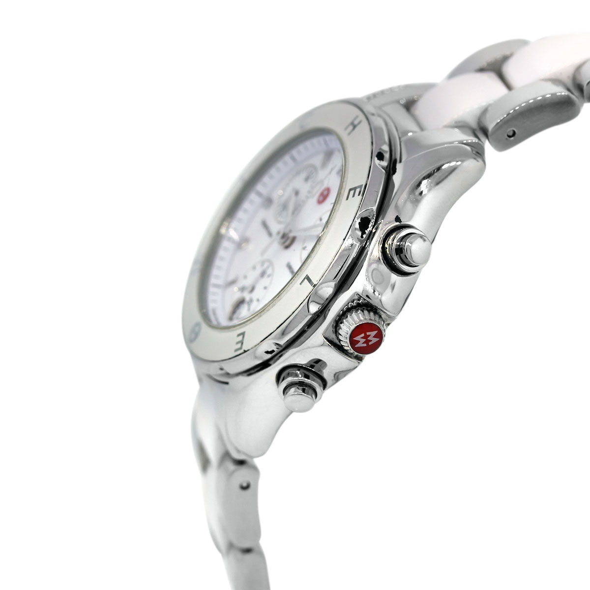 Stainless Steel Ceramic and Enamel Watch