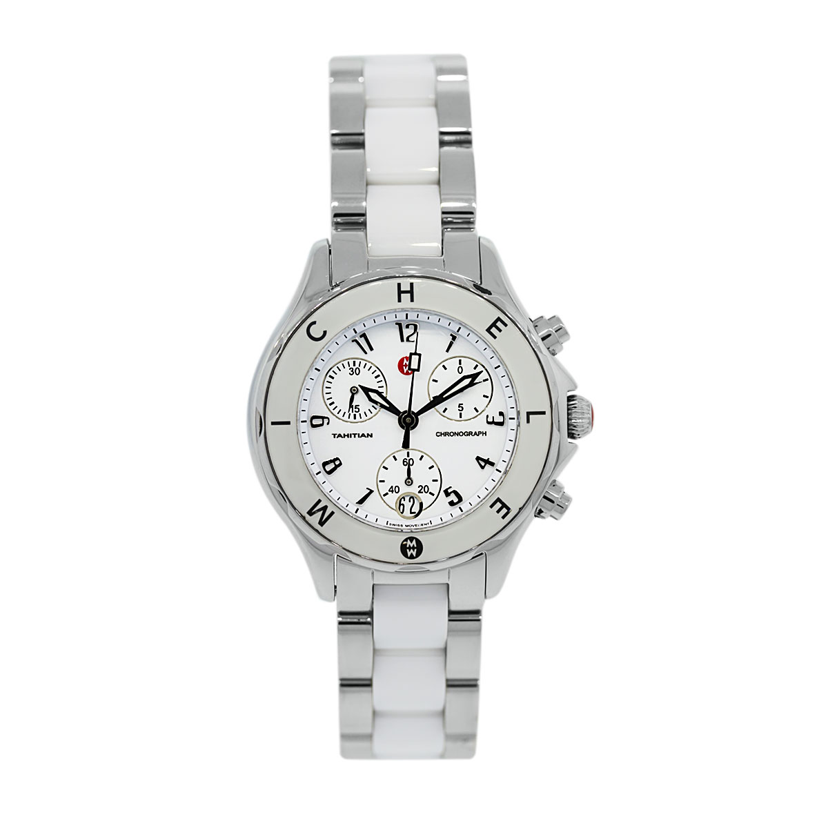 Used Michele Tahitian Ceramic and Stainless Steel Watch
