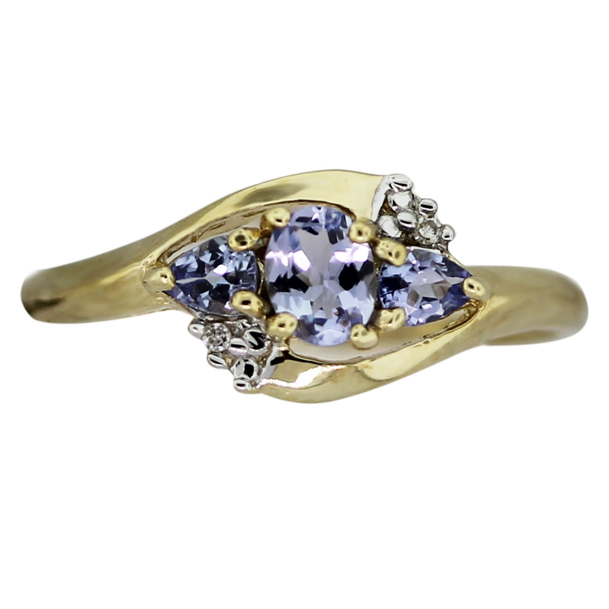 10k Yellow Gold Diamond Tanzanite Ring