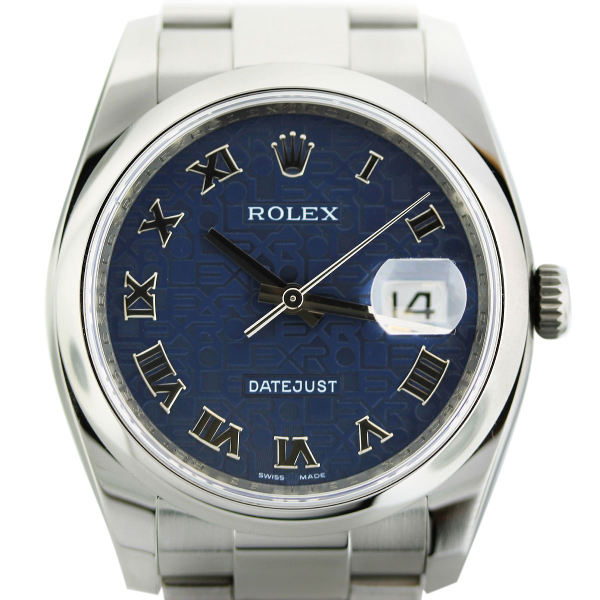 Rolex Datejust 116200 Stainless Steel Blue Roman Dial Watch