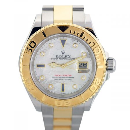 Rolex Yacht Master Mother of Pearl Dial Two Tone Men's Watch Boca Raton