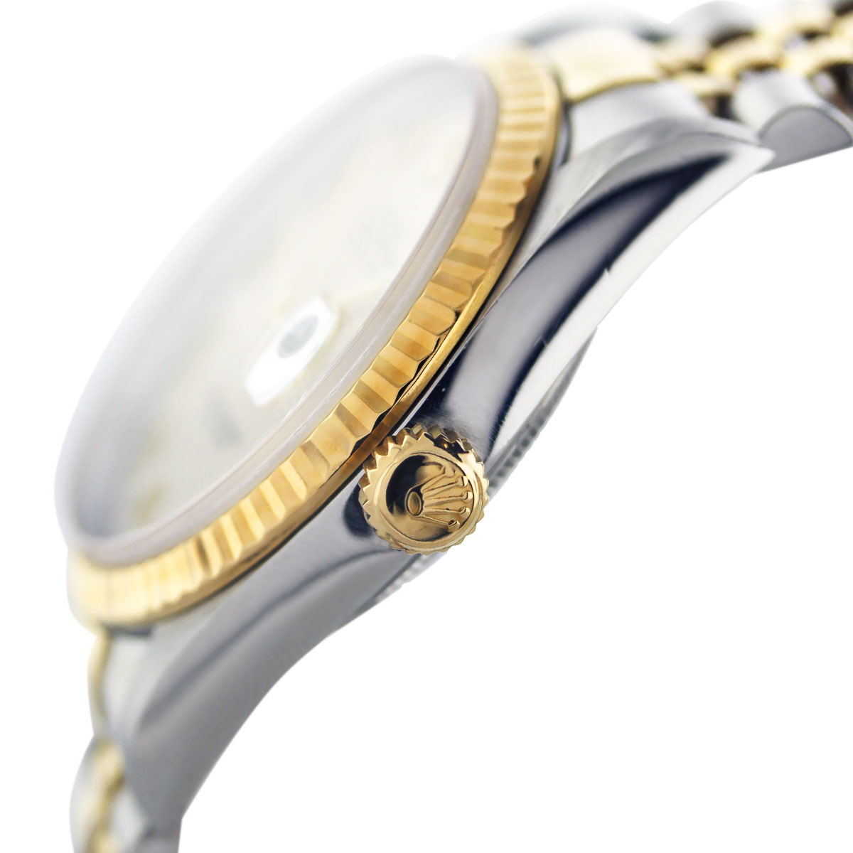 Rolex Datejust Two Tone Ivory Pyramid Roman Dial Men's Watch South Florida