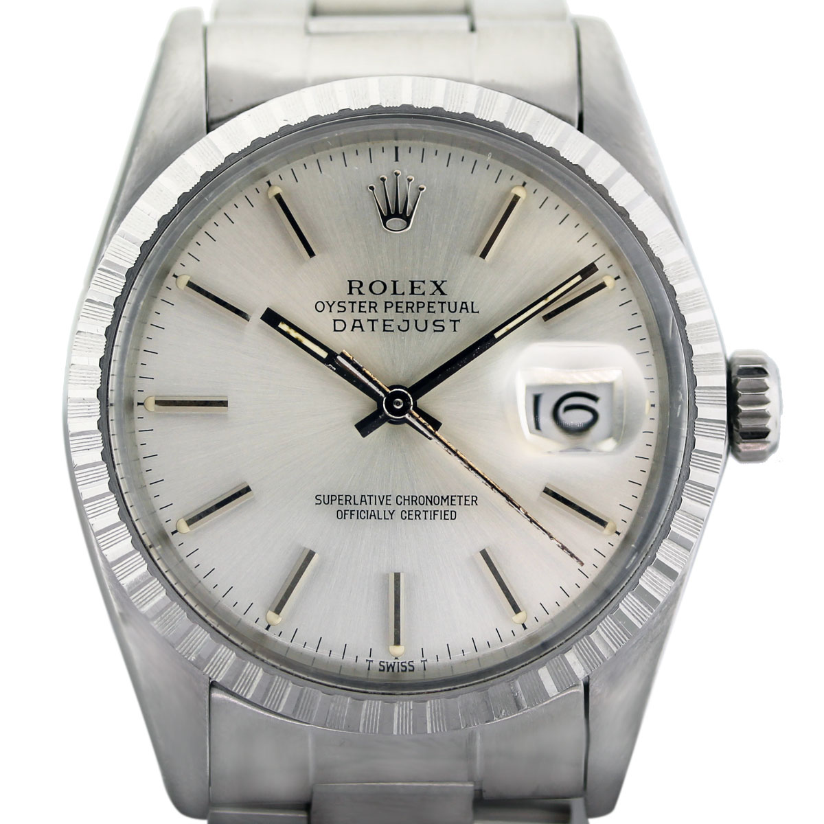 Rolex Datejust 16030 Stainless Steel Silver Dial Oyster Perpetual Watch